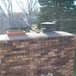 masonry crown cracked and leaking (before pic)